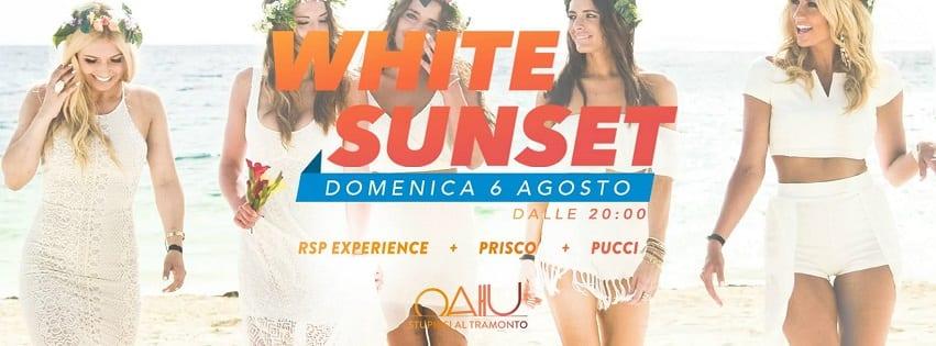 RAMA BEACH Varcaturo - Domenica WhiteSunset al Tramonto