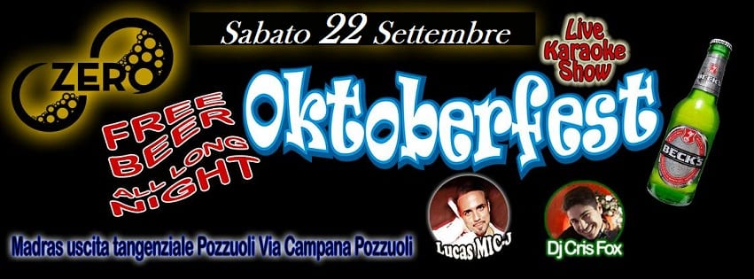 ZERO Discopub Pozzuoli - Sabato 22 Oktober Fest Disco e Latino