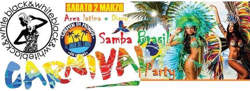 Black e White Pozzuoli - Sabato 2 Carnival Party