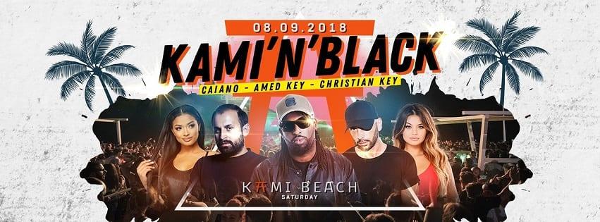 KAMI Beach Varcaturo - Sabato 8 Settembre KAMI 'N' BLACK