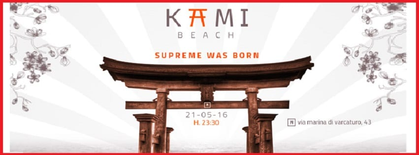 Kami Beach Varcaturo - Ogni Sabato sera Supreme Party