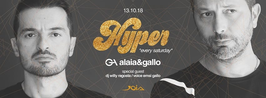 JOIA Napoli - Sabato 13 Ottobre Hyper Exclusive Party