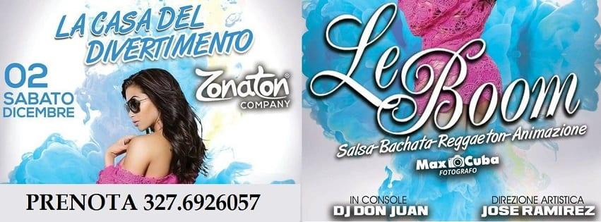 LeBoom Discopub Pozzuoli - Sabato 2 Dicembre Serata Latina