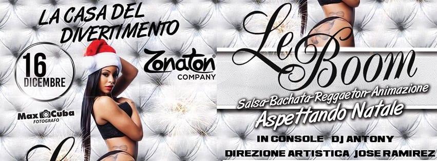 LeBoom Discopub Pozzuoli - Sabato 16 Dicembre Serata Latina