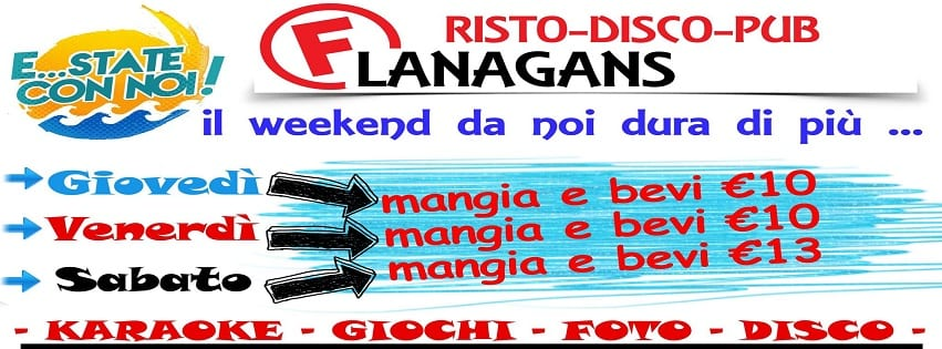 Flanagans Aversa - Sabato 12 Animazione Karaoke e Disco
