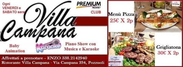 Villa Campana Pozzuoli - Venerdi e Sabato sera