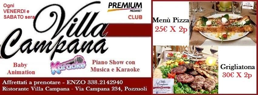 Villa Campana Pozzuoli - Ogni Venerdi Pizza Brace e Karaoke