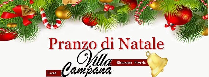 Villa Campana Pozzuoli - Lunedi 25 Pranzo di Natale Napoli