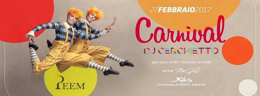JOIA Napoli - Lunedi 27 Febbraio Carnival Party