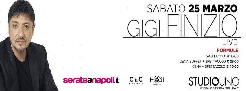 Studio Uno Caserta - Sabato 25 Marzo Concerto Gigi Finizio