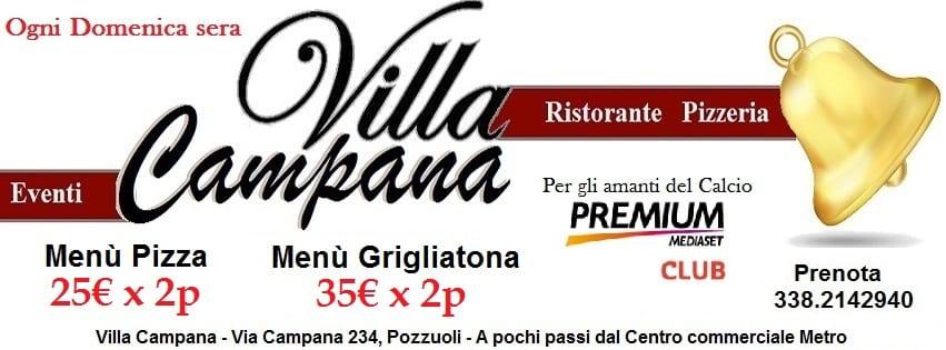 Ristorante Villa Campana Pozzuoli - Domenica sera Pizza e Brace