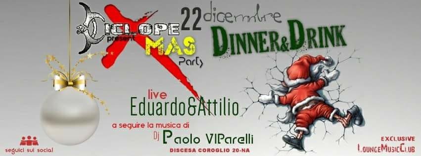 Ciclope Club Posillipo - Venerdi 22 Dicembre Cena spettacolo