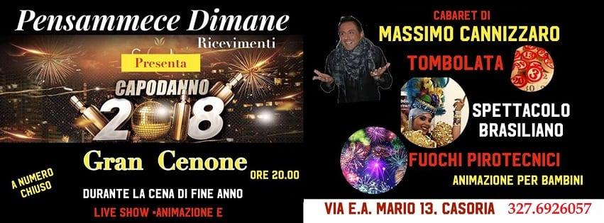 Pensammece Dimane Casoria - Cenone di Capodanno 2018
