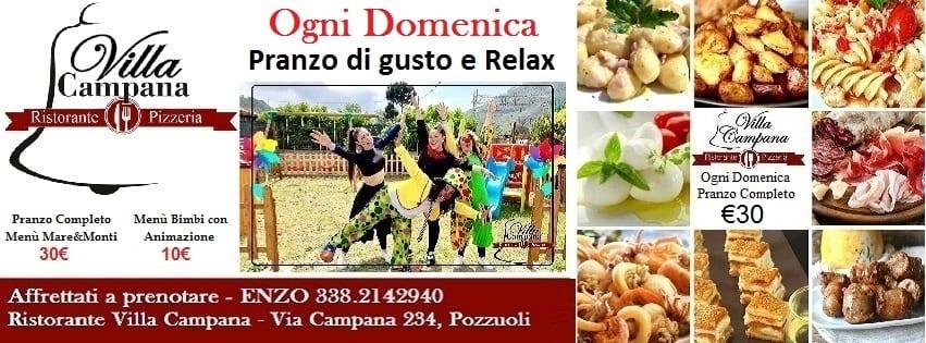 Ristorante Villa Campana Pozzuoli - Domenica 16 a Pranzo