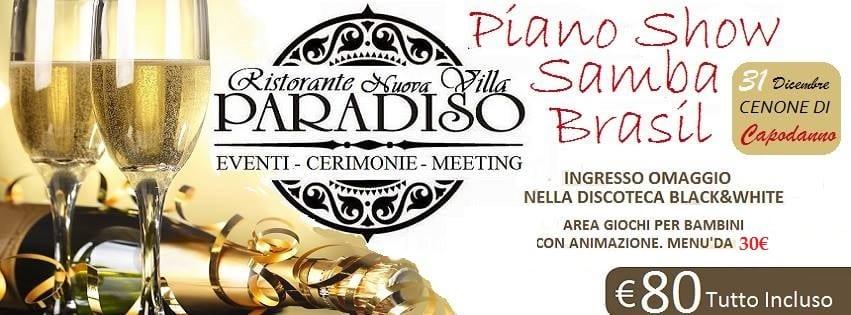 VILLA Paradiso Pozzuoli - Cenone di Capodanno 2018