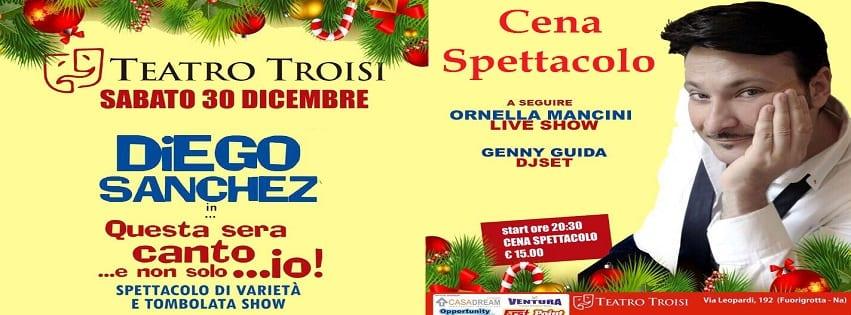 Teatro Troisi Napoli - Sabato 30 Dic Cena spettacolo con Cabaret