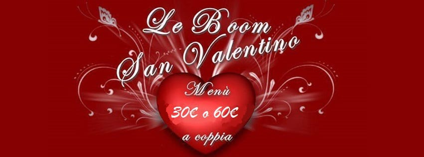 LeBoom Ristorante Pozzuoli - Mercoledi 14 Cena San Valentino