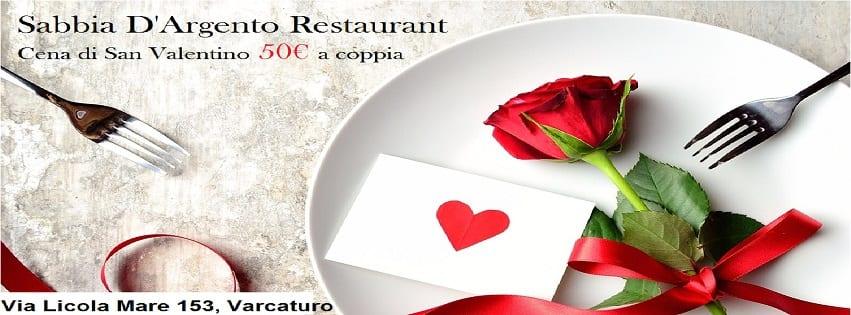 Lido Sabbia D'argento -Cena di San Valentino sul mare 50€ a coppia