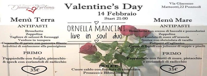 Terrazza di Donna Fortuna Pozzuoli - 14 Febbraio Cena di San Valentino