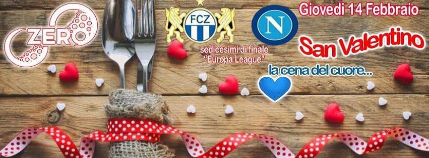 ZERO Pozzuoli - Giovedì 14 Feb Cena di San Valentino 35€ a coppia