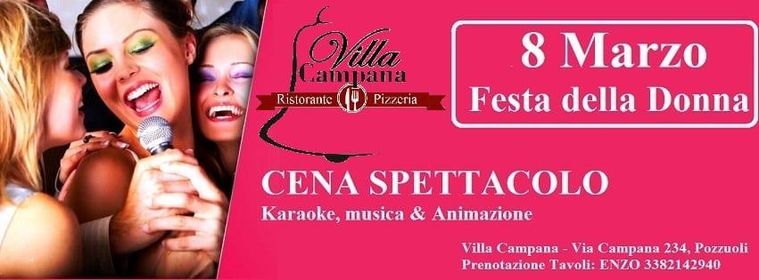 Villa Campana Pozzuoli - 8 Marzo Festa della Donna Napoli