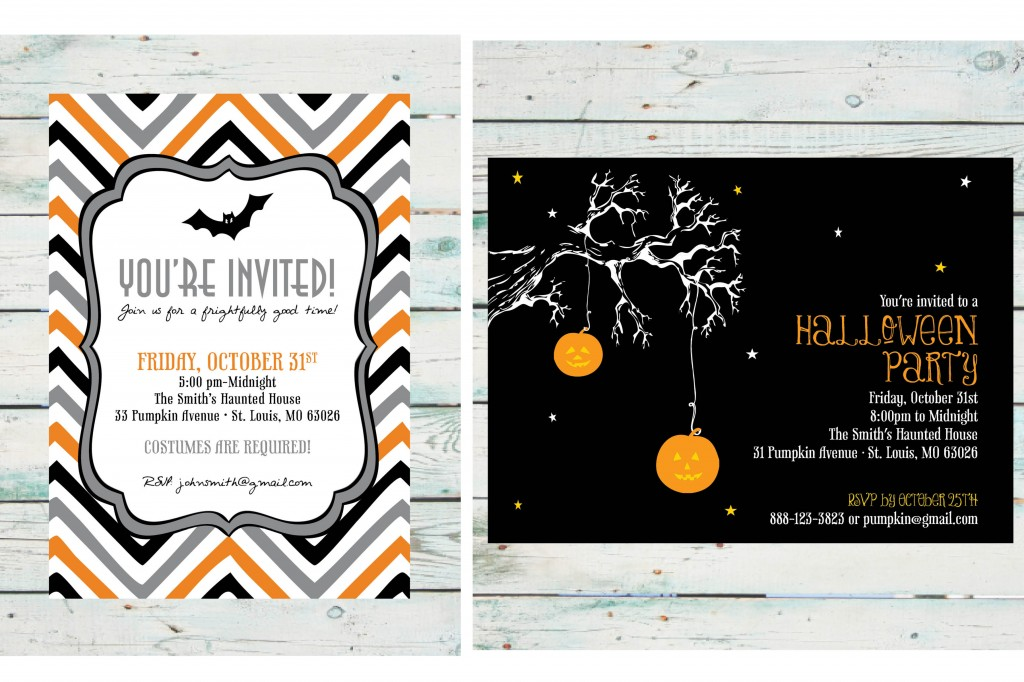 Halloween Party Invitation - DIY Print at Home Invite - invitation for halloween party