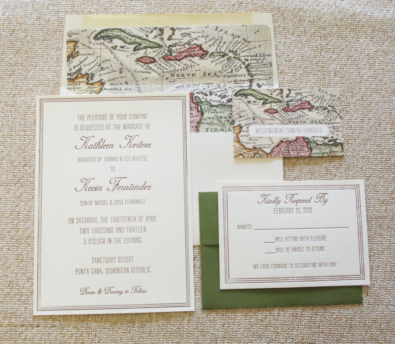 Soothing Flat Card Wedding Invitation Dominican Republic Wedding Invitations Destination Wedding Destination Wedding Invitations Passport Destination Wedding Invitations Bahamas wedding Destination Wedding Invitations