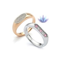 Your Actual Finger Print Rings Personalize PROMISE RING Men