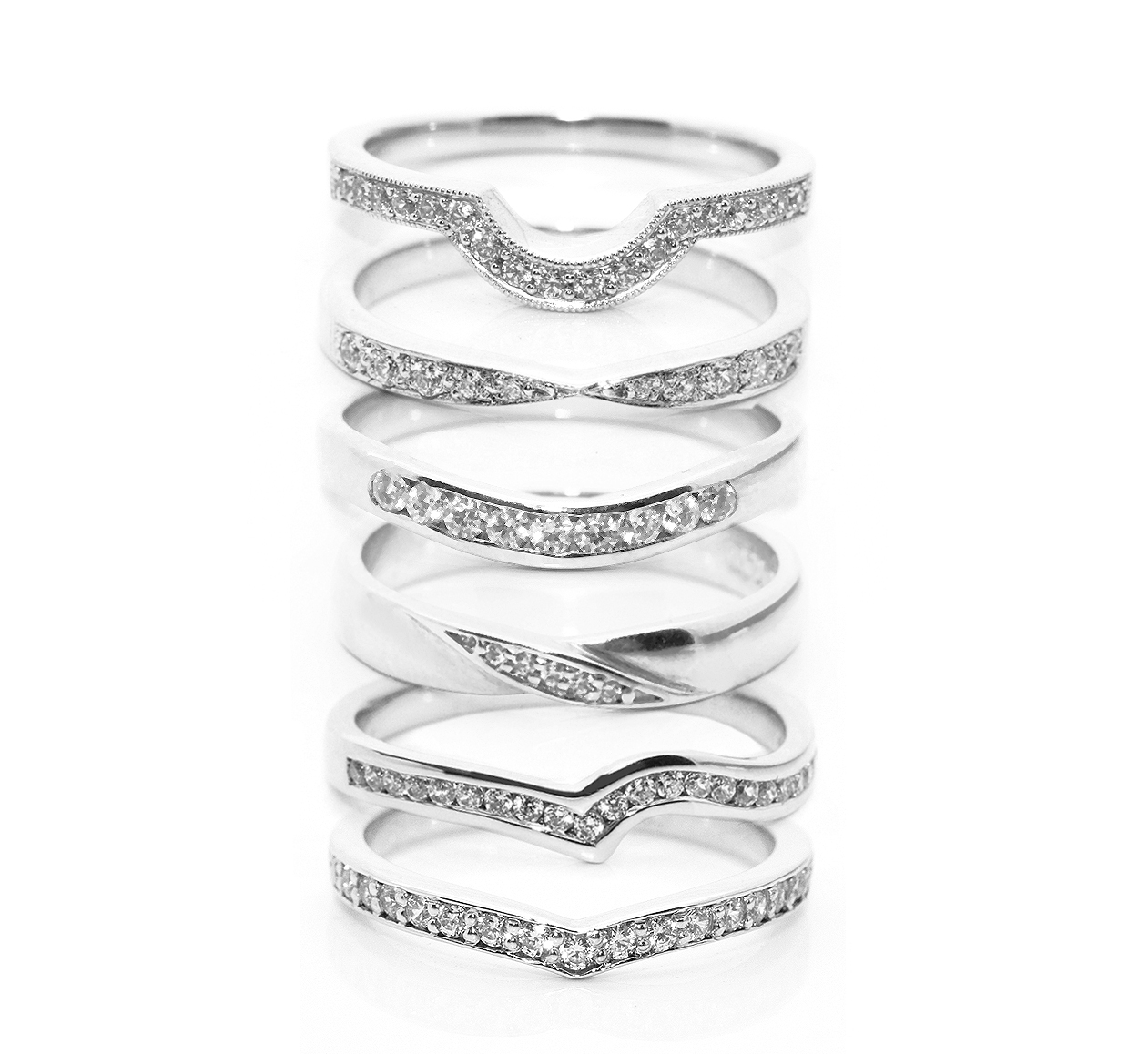 fitting inspiration for shaped wedding rings wedding band curved