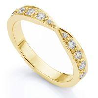 Vintage Style Bowtie Shaped Diamond Wedding Ring