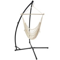 Sunnydaze Durable X-Stand and Hanging Hammock Chair Set or ...