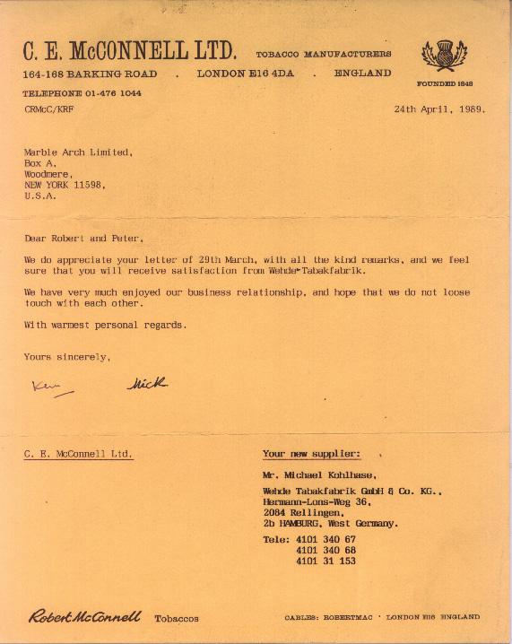 Elephant \ Castle London Made tobacco range - The brandu0027s history - goodbye note