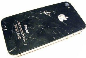 iphone 4 arka kapak kırık