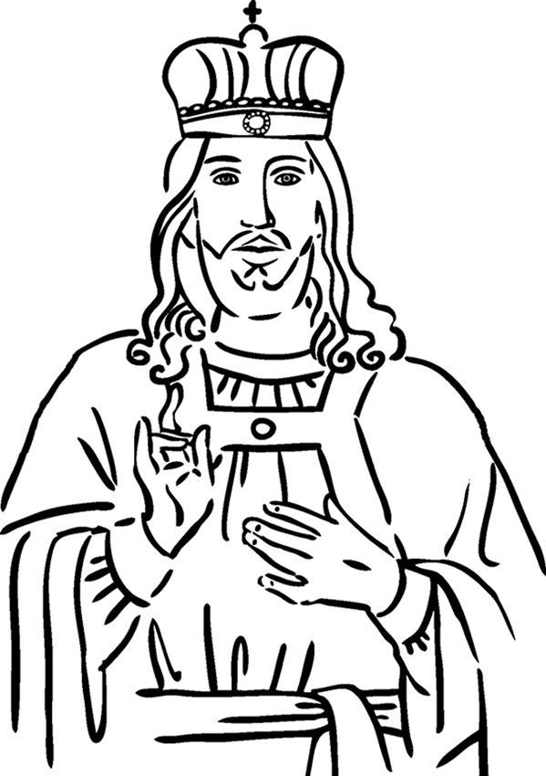 Crown Him King - Coloring Page - best of coloring pages of king and queen