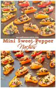 Skip the chips and make your nachos healthier by loading up some mini sweet peppers!!