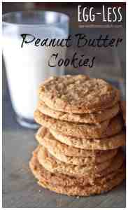 Egg Less Peanut Butter Cookies made with Homemade Peanut Butter!