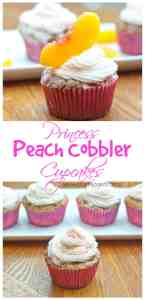 Peach Cobbler baked right into the perfect little cupcake!  Perfect for the Princess Peach in your life!