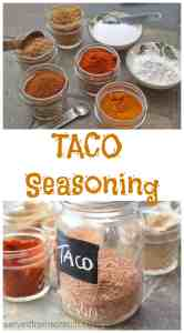 Skip the store bought pre-made taco season and make your own From Scratch in just minutes!