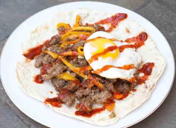 Sausage and Egg Breakfast Burrito