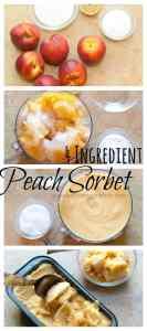 Peach Sorbet From Scratch