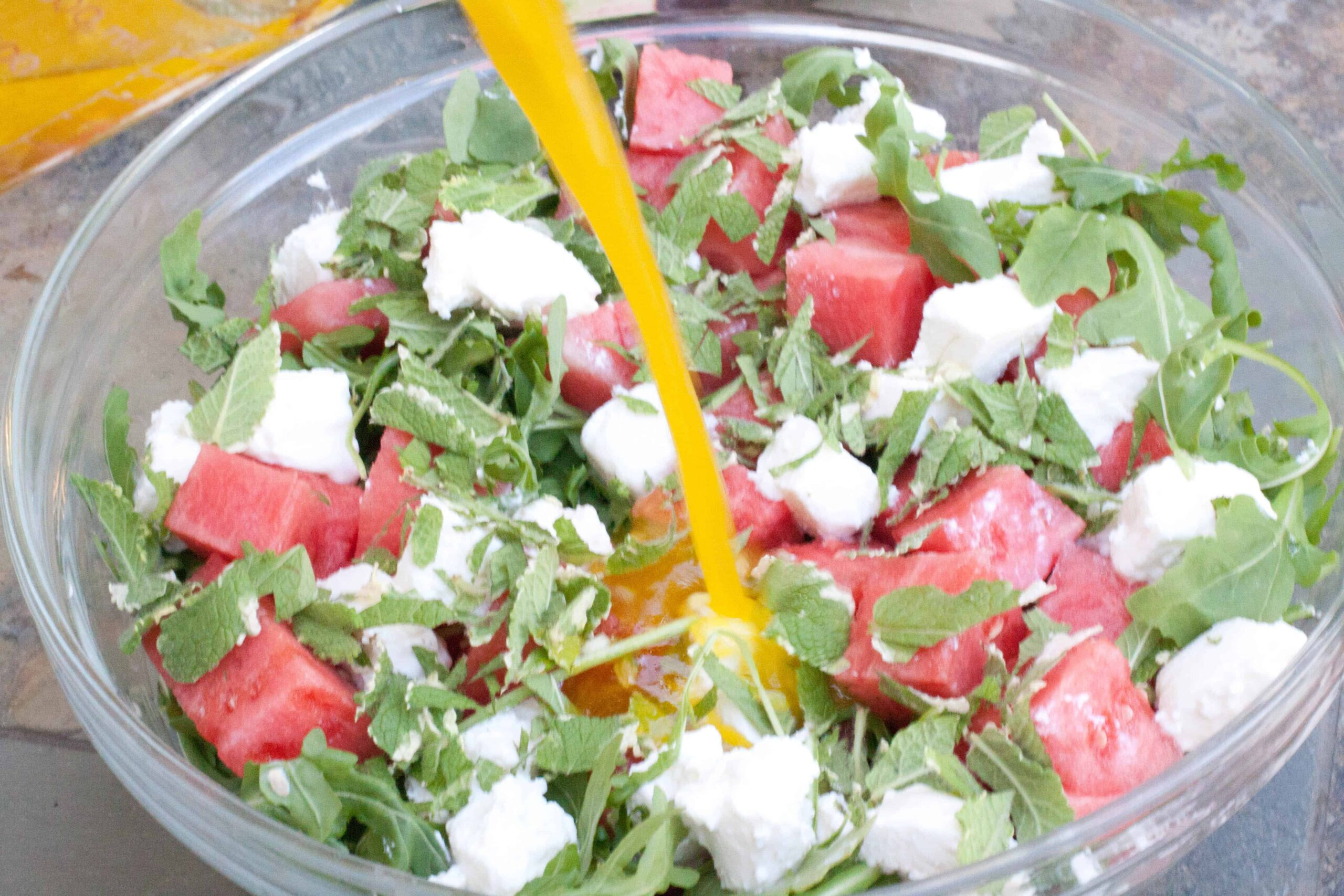 Arugula Watermelon Feta Salad | Served From Scratch