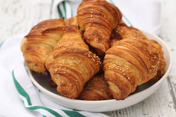 Pretzel Croissants from scratch!
