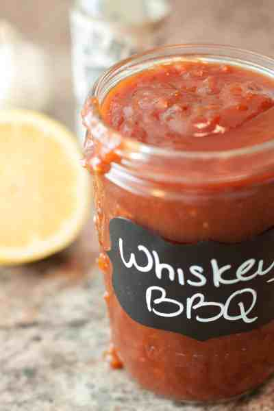 Smokey, sweet, tangy Whiskey BBQ Sauce from scratch