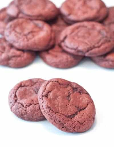 Red Velvet Cookies that are super easy and super soft!