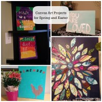 Canvas Art Projects for Spring and Easter - Serving From Home