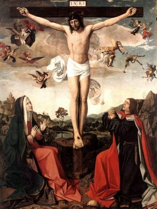 La Virgen junto a la Cruz, Josse Lieferinxe