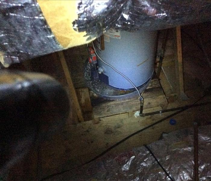 Hot Water Tank Leak In Attic Causes Major Damage In Sarah