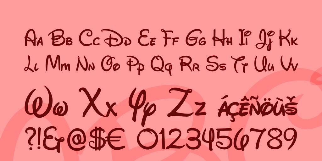 10 Free Walt Disney Fonts 1001 Fonts - oukasinfo