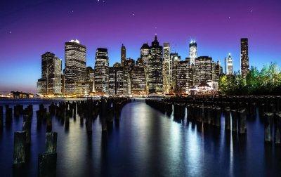 New York Night View Wallpaper [1920x1210]