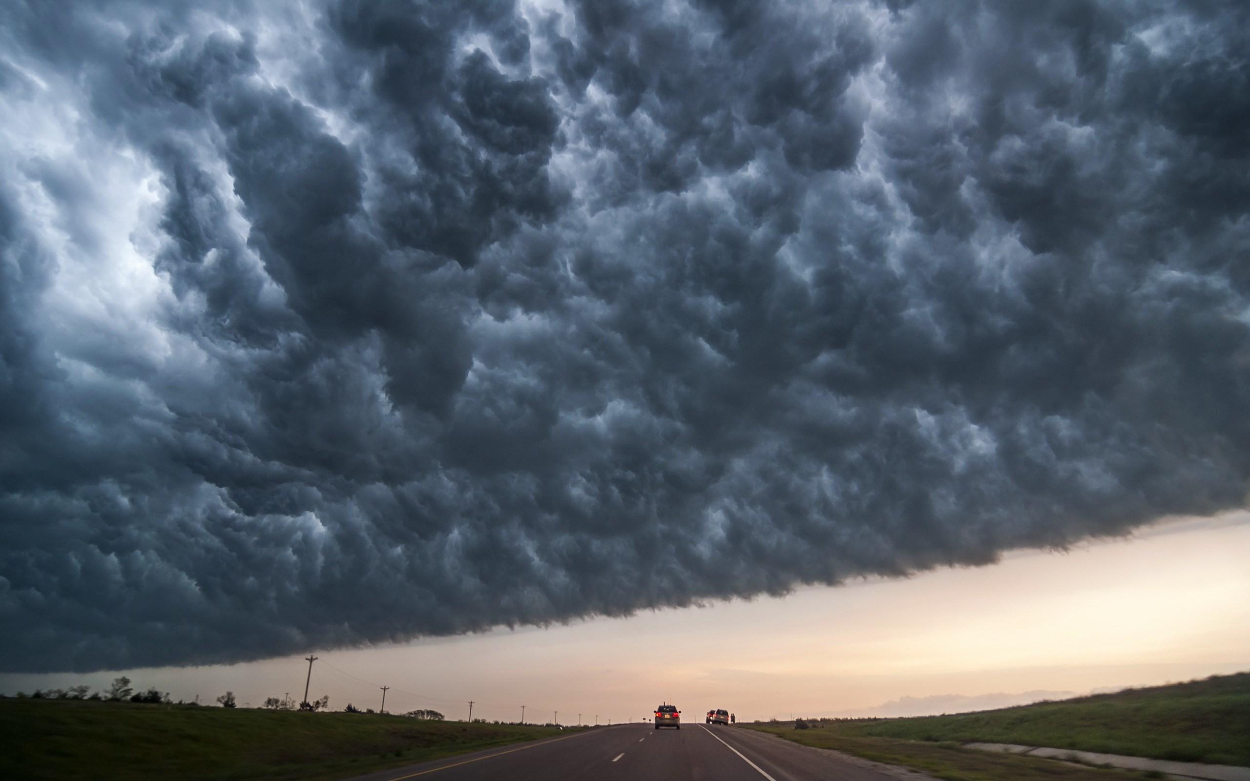 Oppo 3d Wallpaper Road Sky Landscape Clouds Storm Wallpaper 2560x1600